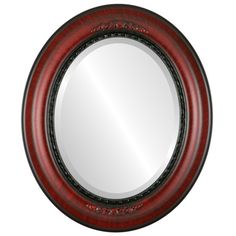 Oval Beveled Wall Mirror for Home Decor - Boston Style - Vintage Cherry - outside dimensions Oval Mirror, Beveled Mirror, Oval Frame, Fake Plants Decor, Plant Decor, Mirror Store, Wall Mounted Mirror, Framed Mirrors, Thing 1