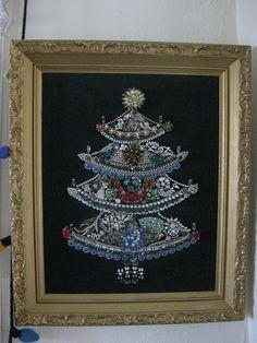 Jewel velvet tree by craft room, via Flickr
