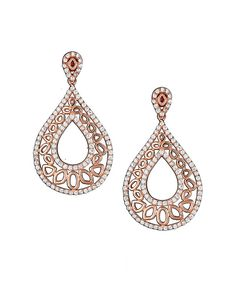 Look at this Rose Gold Pavé Drop Earrings on #zulily today!