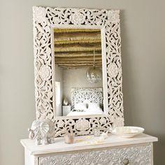 Specchio Adhika sbiancato