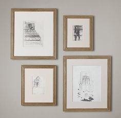 Weathered Oak Stepped Gallery Frames