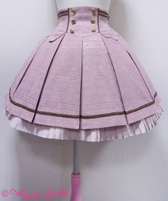 Angelic Pretty's Melty Ribbon Chocolate Skirt in Pink