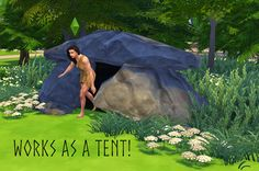 DOWNLOAD SMALL CAVE / TENT FOR SIMS 4 So I started the History Challenge on Sims 4 little while ago and this little pile of rocks that work as a sleeping place / shelter was the 1st thing I made for...