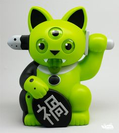 SDCC 2013: Rotofugi Playge Green Misfortune Cat