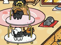 Pickles has accepted them as the lords and saviors. neko atsume #neko atsume#fin's personal corner