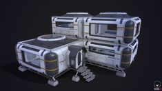 Part of personal project Spaceship Interior, Spaceship Art, Subnautica Base, Sci Fi Games, Aliens, Diy Table Top, Sci Fi Environment, Alien Concept Art, Found Object Art