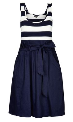 City Chic - CUTE SAILOR DRESS - Women's Plus Size Fashion