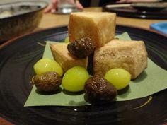 11月の京都の料理屋さんではほぼこの食材が出た、むかご。#京都 #割烹 #和食 #kyoto
