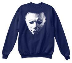 Perfect Halloween Shirt, Horror Costume Navy T-Shirt Front Cool Shirts, Tee Shirts, Tees, Halloween Horror, Halloween 2, Horror Shirts, Michaels Halloween, Horror Masks, Halloween Sweatshirt