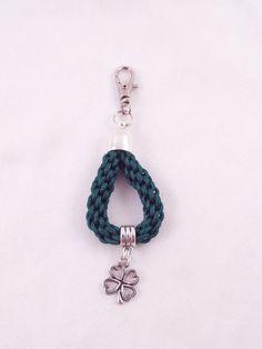 Fodla Green kumihimo Looped key chain/bag charm by HandmadeByVscot