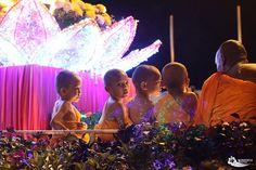 Kids also partake in the Wesak Day (Vesak Day) parade in Kuala Lumpur, Malaysia.