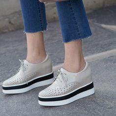 1804-WS-L0614 (13) Lace Up Shoes, Cute Shoes, Me Too Shoes, Comfy Shoes, Casual Shoes, Cool Boots, Designer Shoes, Fashion Shoes, Shoes Sandals