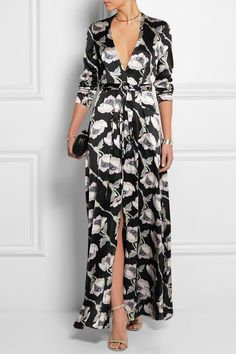 Merchant Archive | Floral-print silk-satin maxi dress | NET-A-PORTER.COM