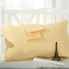 800 Thread Count Egyptian Cotton Standard/Queen Size Pillowcase Set Of 4 Apricot