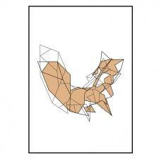 Origami Fox | Plakat A4