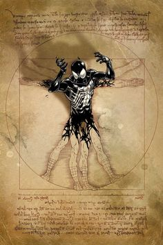 This picture has a very dramatic element to it where the spiderman is emerging out of a picture that we are all familiar with, its a cool idea for design! It can also be incorporated with the idea of evolution.