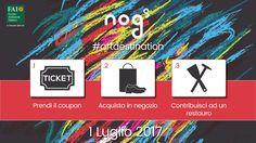 Lo store Nogs di Pescara devolve il 10% dell'incasso della giornata di sabato 1 Luglio al Fai, per il restauro dell'opera di Cascella