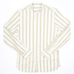 A.B.C.L. Garments Stand Style Shirt 9104 Golden Stripes : SUNSETSTAR Japanese Denim, Japanese Cotton, Edwin Jeans, Universal Works, Collar Stays, Red Wing Shoes, Workout Accessories, Vintage Inspired Dresses, Cotton Linen