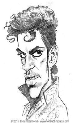 Caricatura del gran músico Prince, realizada por el artista Tom Richmond. Prince por Tom Richmo...