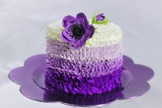 Looking for cake decorating project inspiration? Check out Purple Buttercream Cake by member Redhead1946. - via @Craftsy