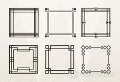 Art Deco Frames Geometric Art Deco Frames - you could frame photos or fabric swatches and hang them on your wall.Geometric Art Deco Frames - you could frame photos or fabric swatches and hang them on your wall. Art Deco Borders, Motif Art Deco, Art Deco Design, Wall Design, Art Deco Spiegel, Casa Art Deco, Interiores Art Deco, Art Nouveau, Art Encadrée
