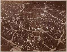 1921 aerial view of the Woodlawn Cemetery. How might modern-day magnates translate the look of their home or office into the afterlife? Alexandra Lange on mausoleums then and now: http://nyr.kr/1roXtdM (Photograph courtesy Avery Library, Drawings, & Archives, Woodlawn Cemetery Records)