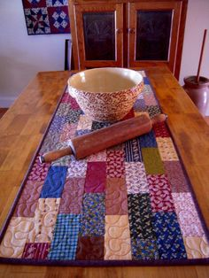Quilted Table Runner Patchwork Table Runner by Sewsouthernquilts, $30.00