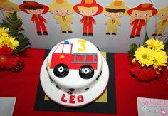 gateau anniversaire camion pompier