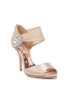 Galya Decorated Wide Strap Bridal Shoe by Badgley Mischka