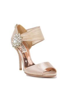 Galya Decorated Wide Strap Bridal Shoe by Badgley Mischka