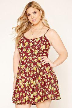 FOREVER 21+ Plus Size Floral Skater Dress