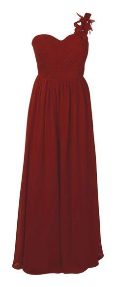 Asymmetrisches Chiffon-Abendkleid in Rot Abendkleider Kaufen, Kleidchen,  Ballkleid, Schicke Kleider, 8599dd2e2d