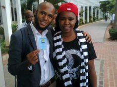 Siyabonga Sithole with #ZAHARA before The Metro FM Awards.