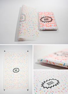 confetti paper. a transparent paper. yes please!