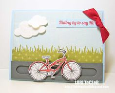Interactive card made with Riding By stamp set from Market Street Stamps.