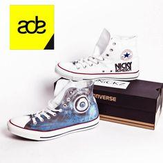 SPOTTED: #NickyRomero #ADE #AmsterdamDanceEvent #custom #made #converse #chucks #allstars Get your custom Converse now at www.unickz.nl