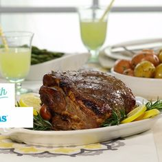 At-home Easter dinner made easy! This Roasted Leg of Lamb is a must-try this Spring!
