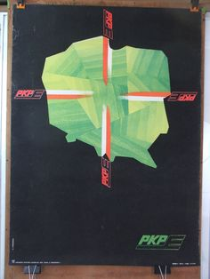 Vintage Polish Travel Advert Poster  PKP by FunkyKovalDesign