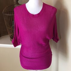 Fuchsia rayon top Short sleeve top TM Massimo Dutti Tops