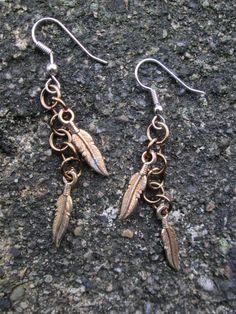 Lona - Feather earrings