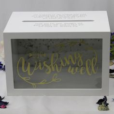 Wedding Wishing Well White Wooden Card Box - Wedding Decor & Decorations  | eBay