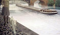 """""""River Spree"""" (1971) by Alex Colville via Alex Colville."""