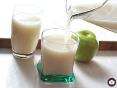 Agua de avena con manzana