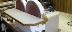 Building The Double Disc Sander I needed a disc sander for shaping and sanding partsand did not want to mess around with changing grit on and off, so I decided to make a double one with 2 dis…