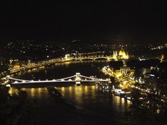 Budapest by night. View from Gellert Hill
