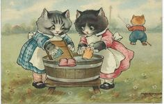 A. E. Kennedy Two little cats (kittens wash their mittens)