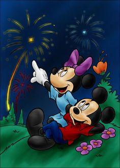 DC - Mickey and Minnie (color) by vanillacoke-disney Mickey Minnie Mouse, Disney Mickey, Walt Disney, Mickey Mouse Wallpaper, Disney Wallpaper, Mickey And Friends, Disney Cartoons, Disney Love, Anna Disney
