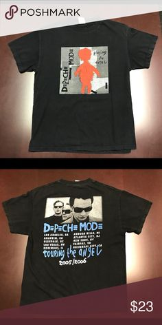 Depeche Mode tour shirt Vintage Depeche Mode playing the angel tour shirt from 2005-2006. Excellent condition piece no rips or stains, very light fading around the back collar but not really noticeable Shirts Tees - Short Sleeve