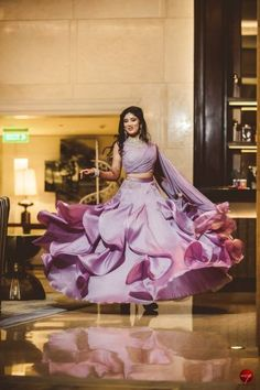 Looking for Twirling bride in lavender Shantanu Nikhil lehenga? Browse of latest bridal photos, lehenga & jewelry designs, decor ideas, etc. on WedMeGood Gallery. Indian Wedding Gowns, Indian Gowns Dresses, Indian Bridal Outfits, Indian Fashion Dresses, Indian Designer Outfits, Wedding Dresses For Girls, Bridal Dresses, Engagement Gowns, Wedding Lehenga Designs