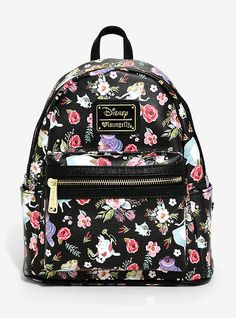 Loungefly Disney Alice In Wonderland Floral Mini Backpack,